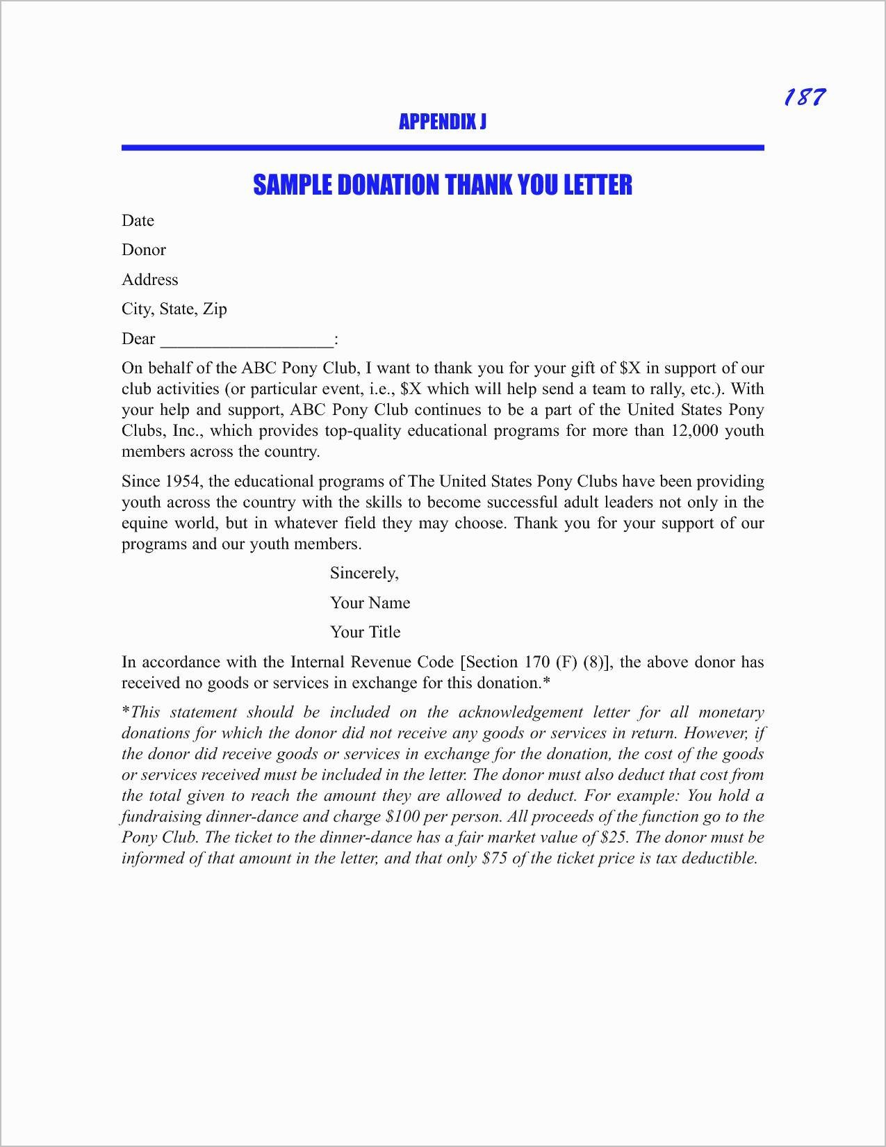 Thank You for Your Donation Letter Template - 15 Best Charitable Donation Letter Template