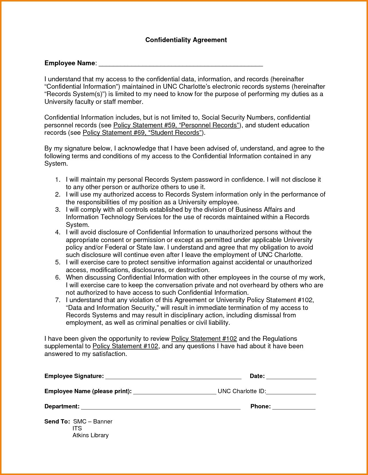 Non Disclosure Letter Template - 16 Best Non Disclosure Agreement Template Word