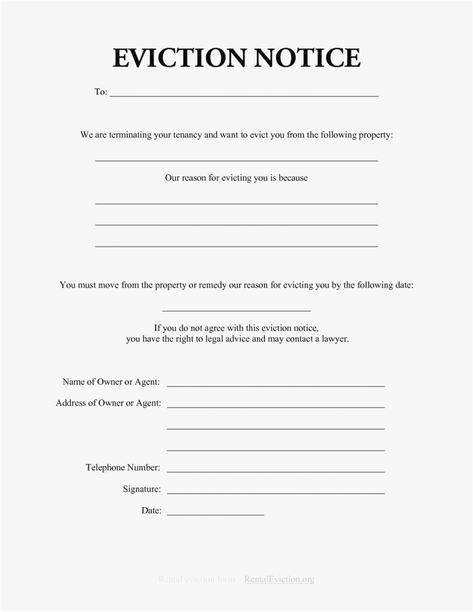Eviction Letter Template Pdf - 18 30 Day Eviction Notice Template format