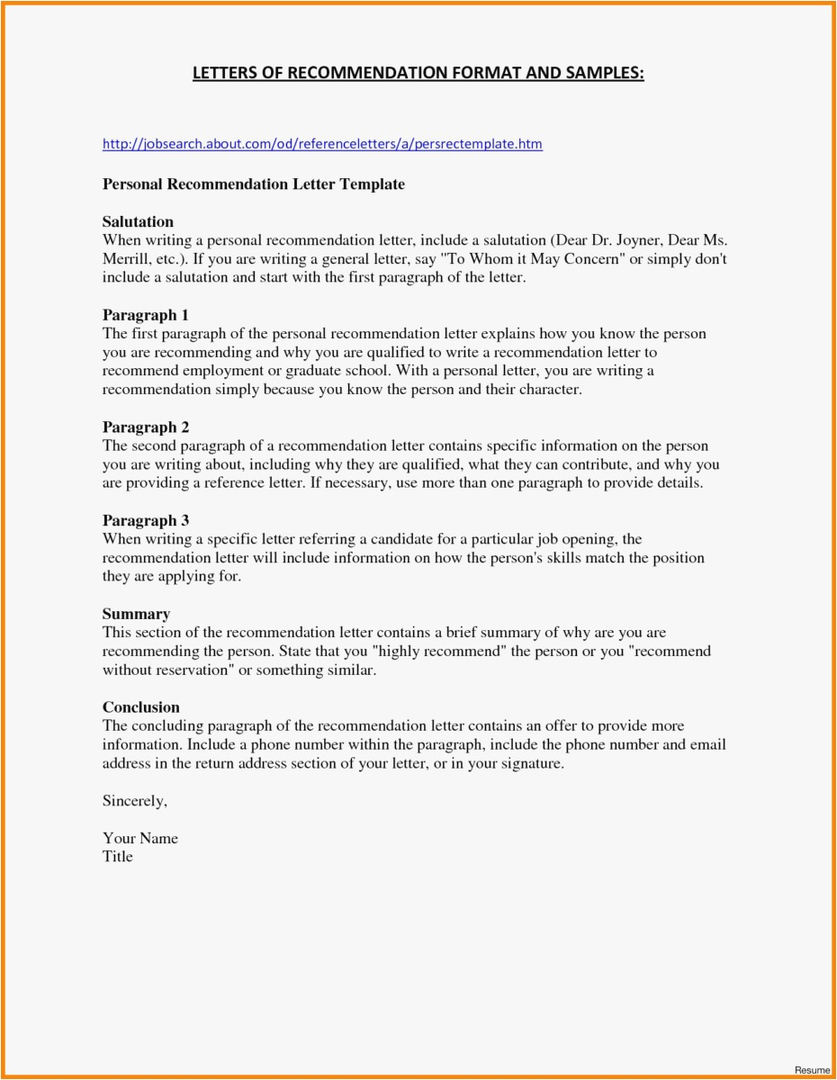 Letter Of Recommendation Template Word - 18 Cover Letter Templates Word Picture