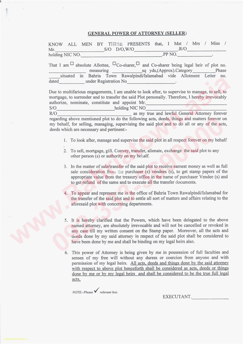 Power Of attorney Letter Template - 18 General Power attorney Template Gallery
