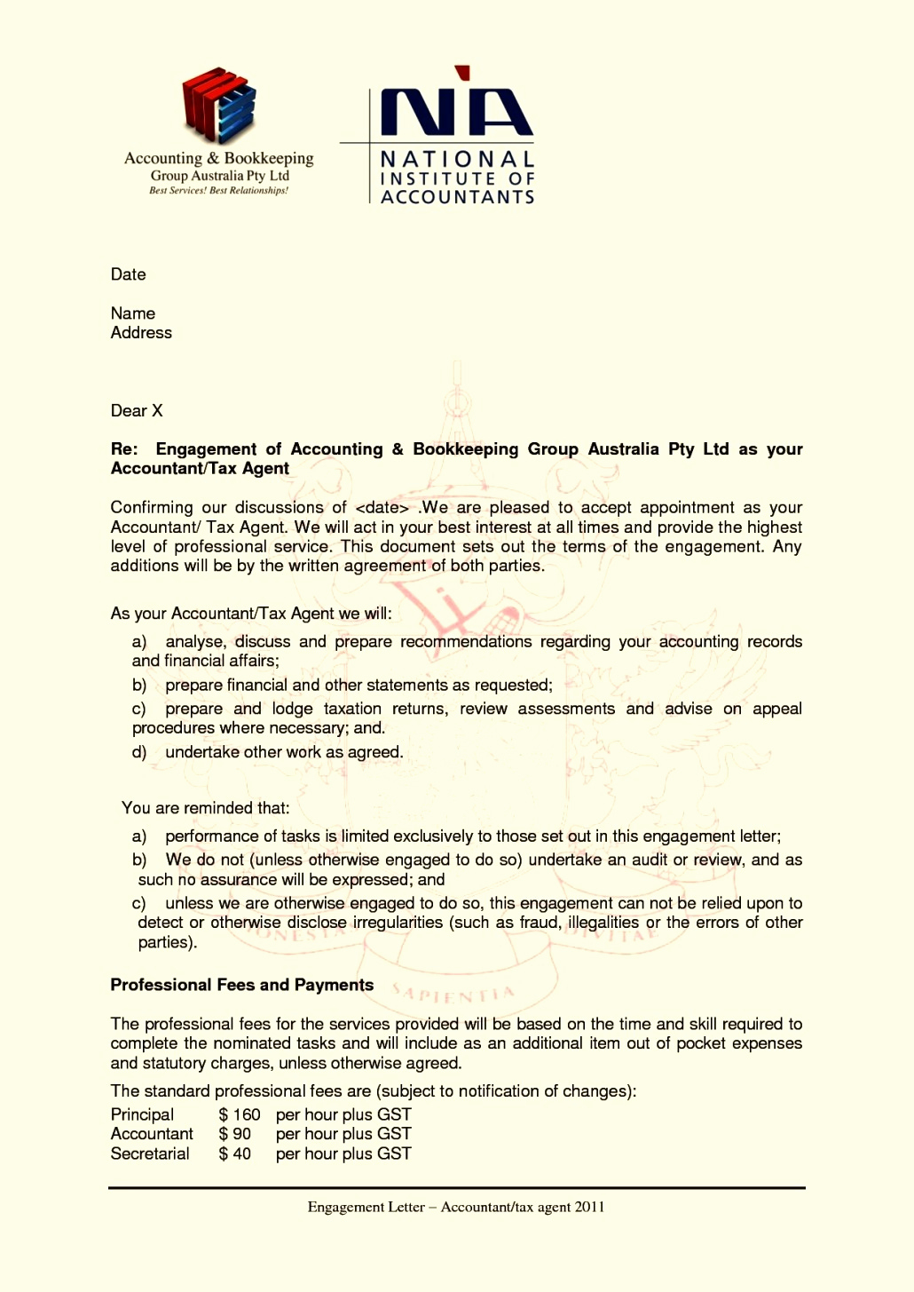 Bookkeeping Engagement Letter Template - 18 Sample Consulting Engagement Letters