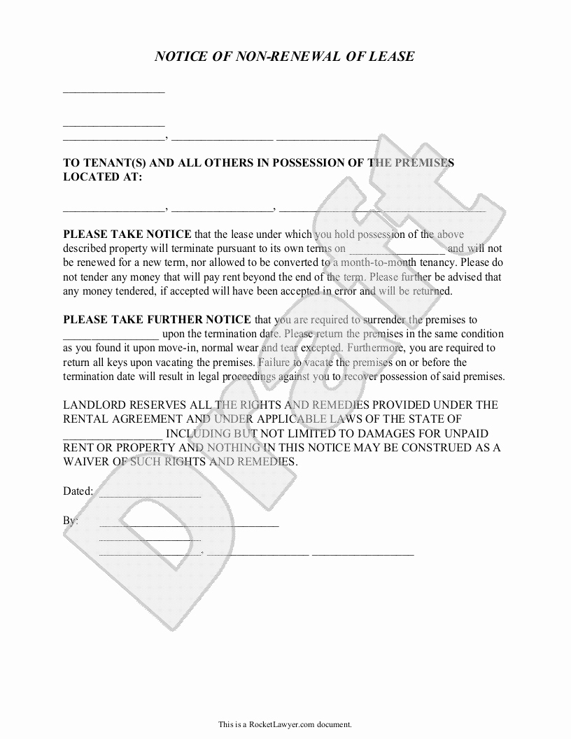 nonrenewal of lease letter template example-Lease Termination Letter From Landlord Elegant Not Renewing Lease Letter Sample Samples 17-h