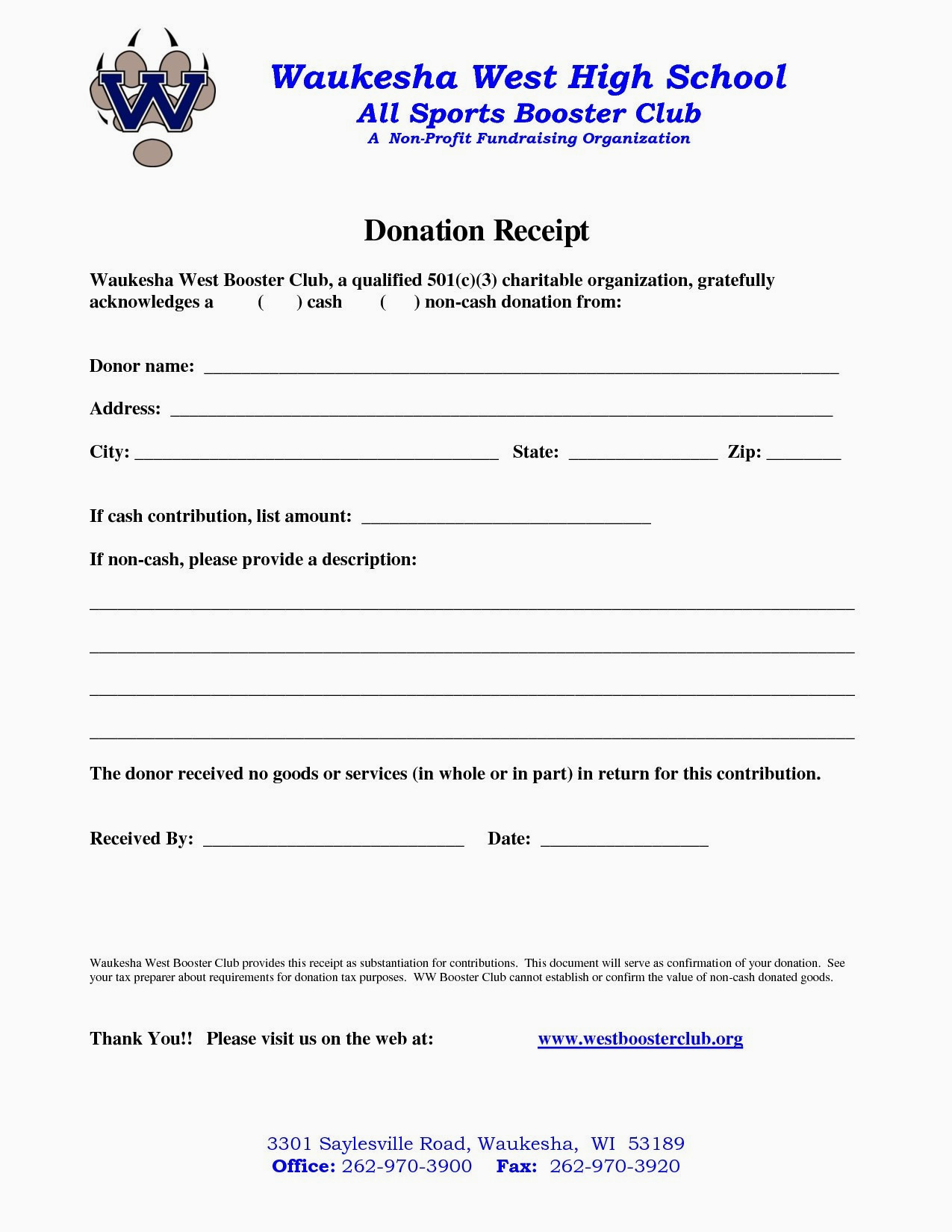 Donation Letter Template For Non Profit Organization