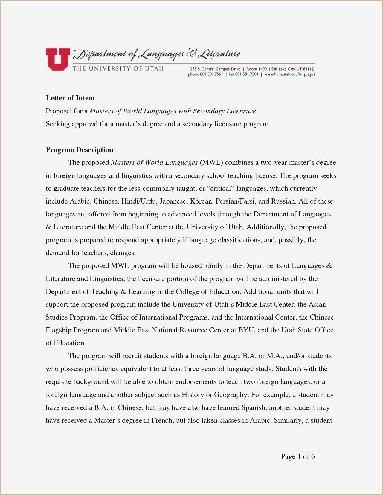 Letter Of Intent Template Graduate School - 21 Get Graduate School Letter Intent Template Zgofkxs