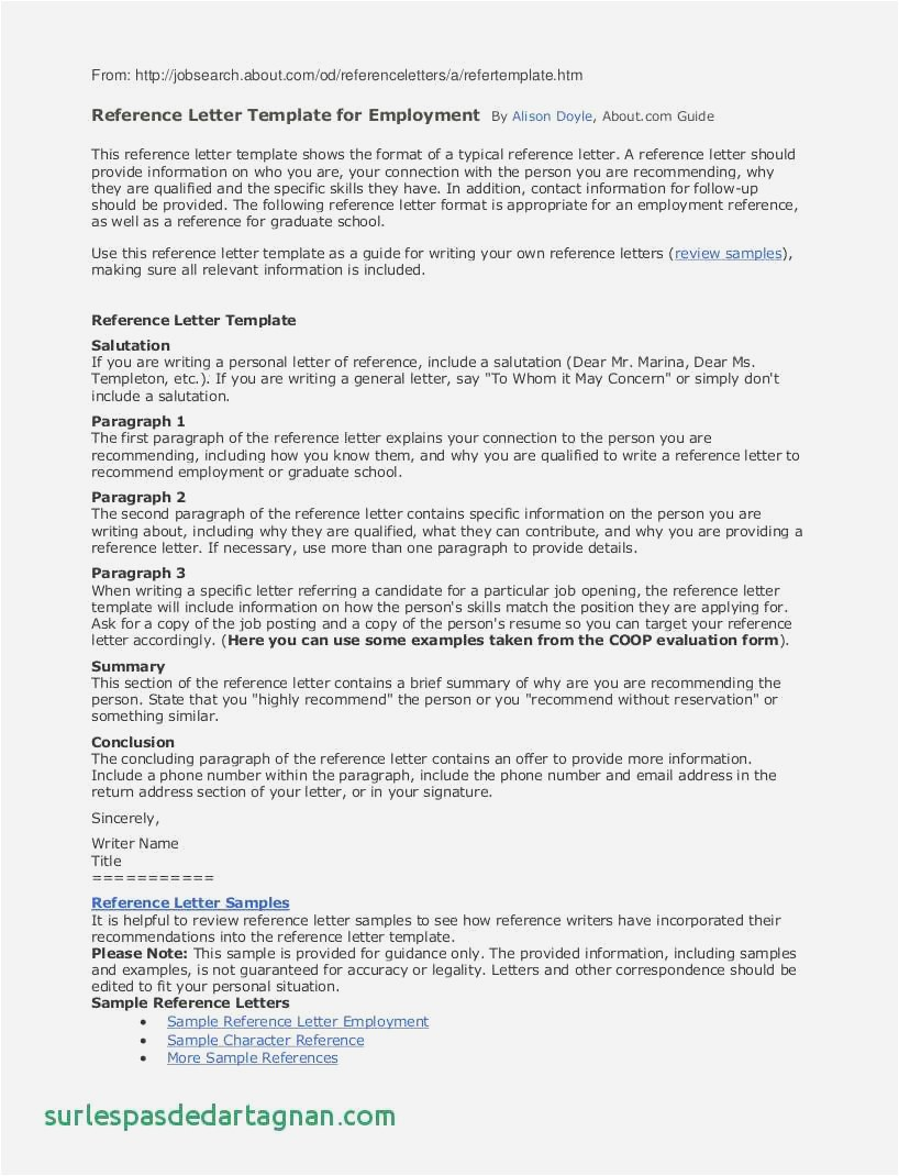 Personal Reference Letter Template - 22 Free Example Letter Reference format