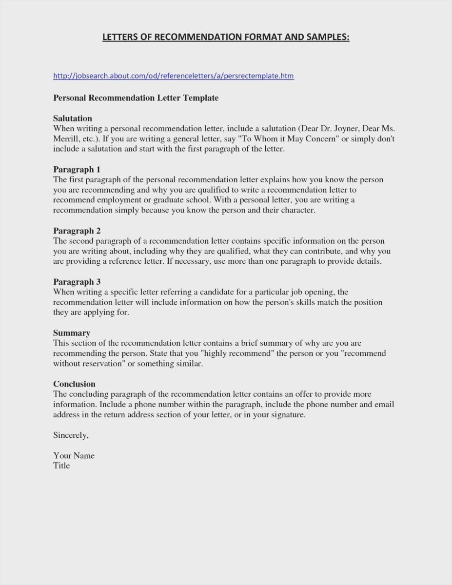 Email Letter Of Recommendation Template - 23 New College Re Mendation Letter Professional