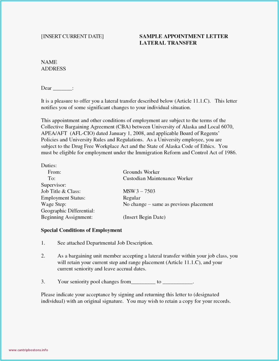 Addendum to Offer Letter Template - 23 Parent Letter Template format
