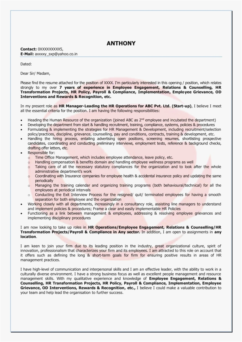 Simple Offer Letter Template - 24 Employment Fer Letter Template Download