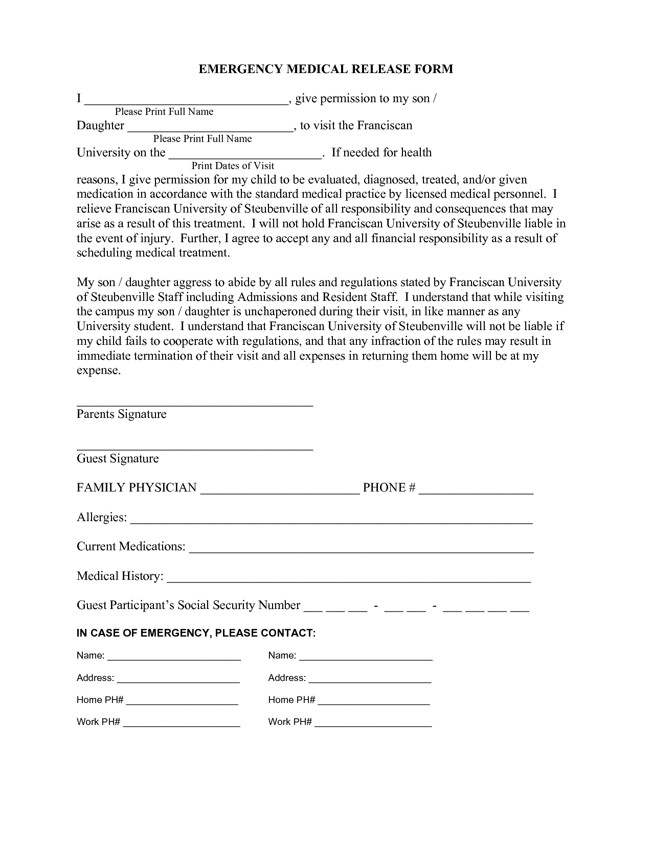 Medical Release Letter Template - 25 Of Medical Waiver Template