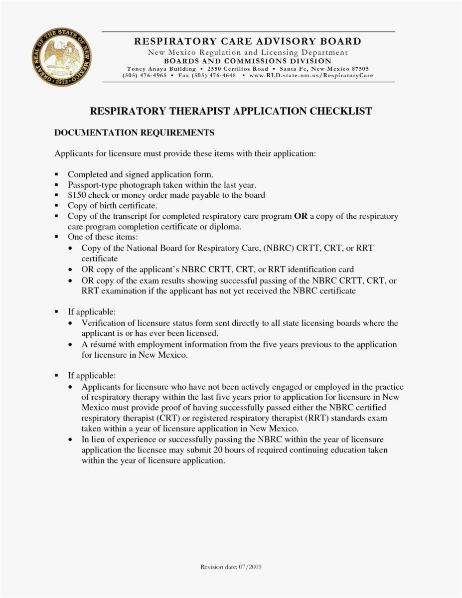 Respiratory Therapy Cover Letter Template   26 Resume Respiratory Therapist