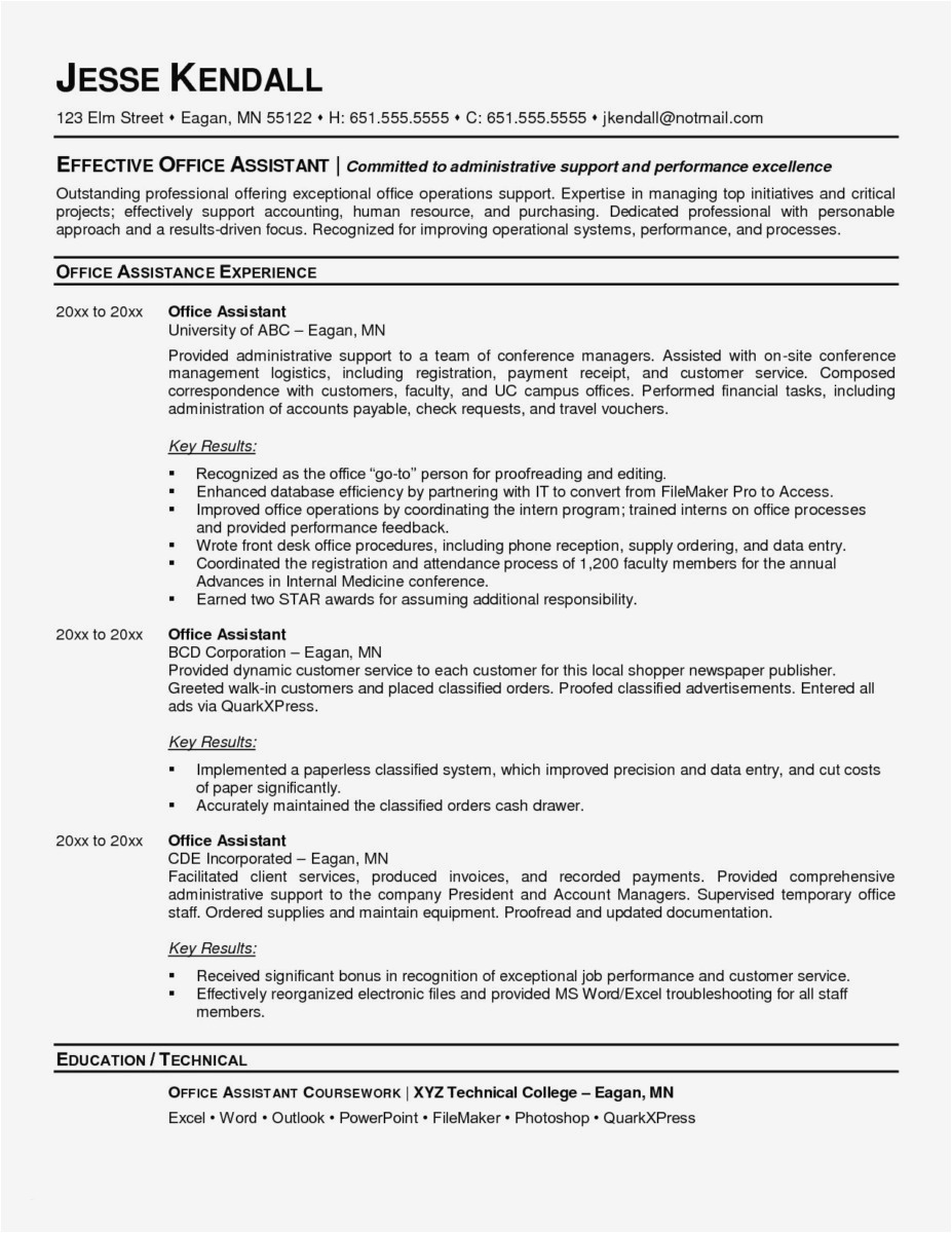 Going Paperless Letter to Customers Template - 27 Professional Executive assistant Resume 2018