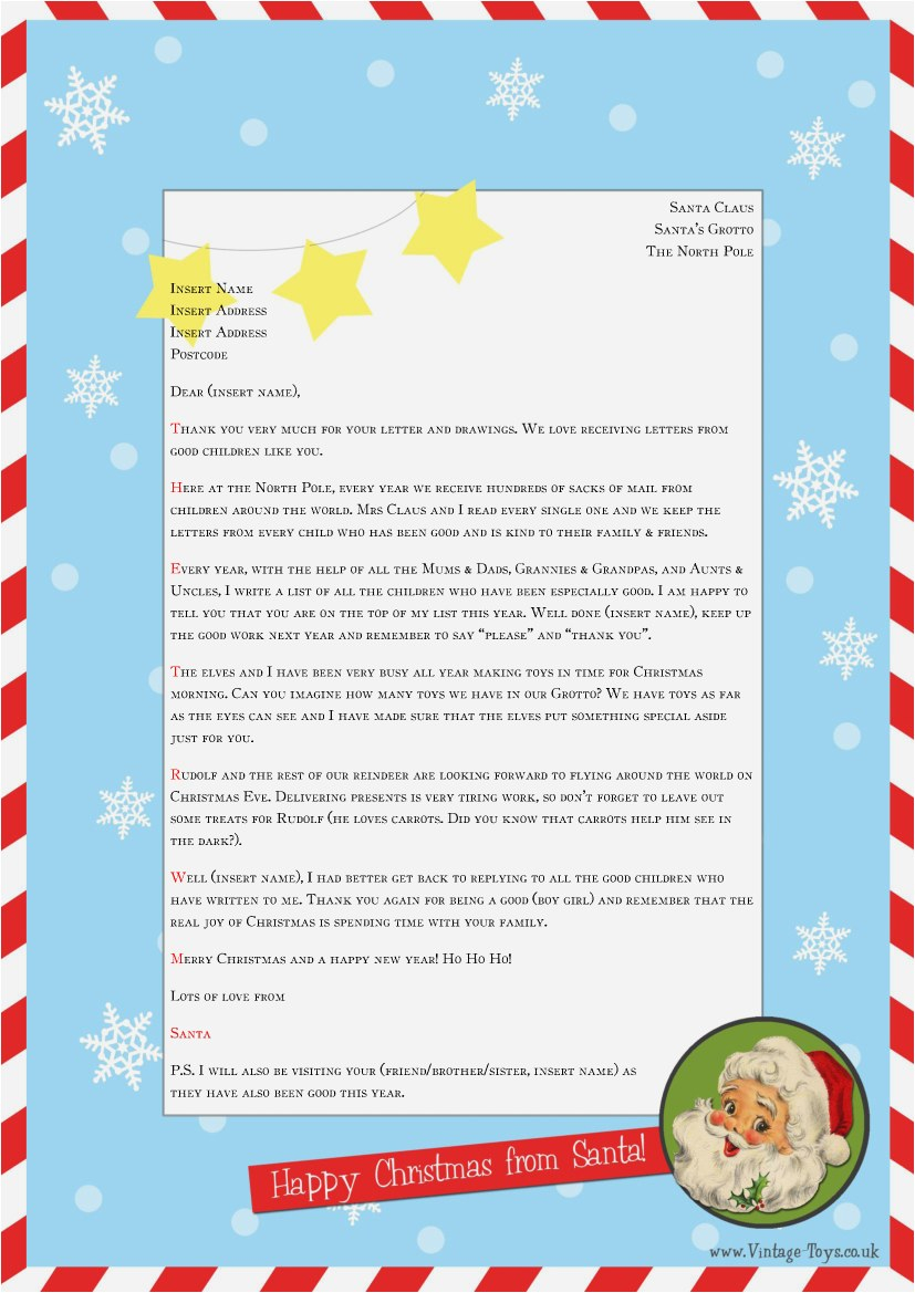 Letter From Santa Template Free Download - 28 Free A Letter From Santa Professional
