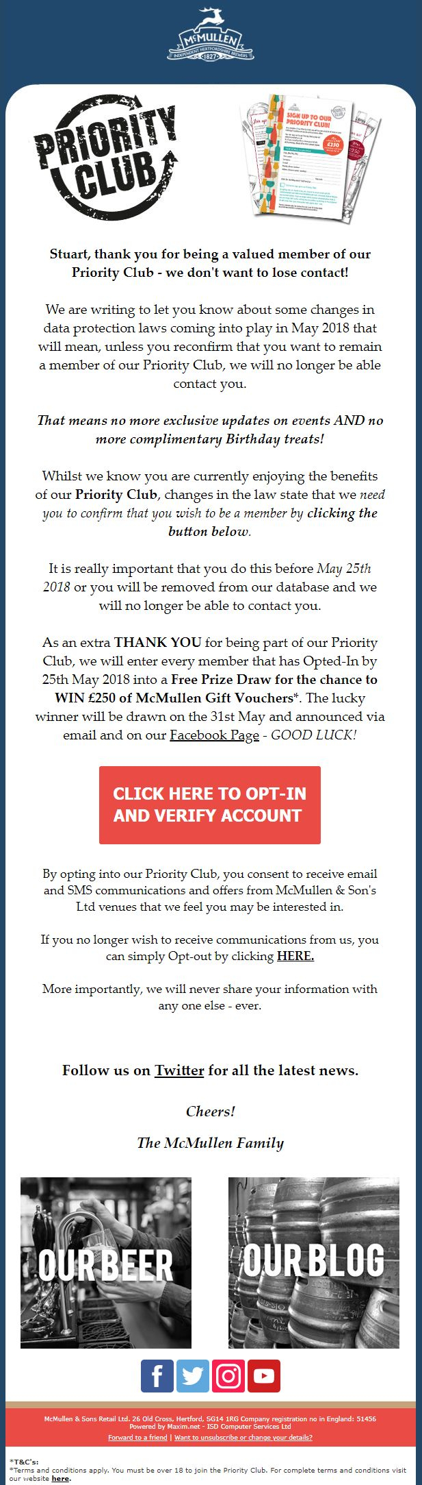 gdpr letter template Collection-GDPR McMullen pubs Priority Club email asking fro reconfirming consent ahead of GDPR 19-j