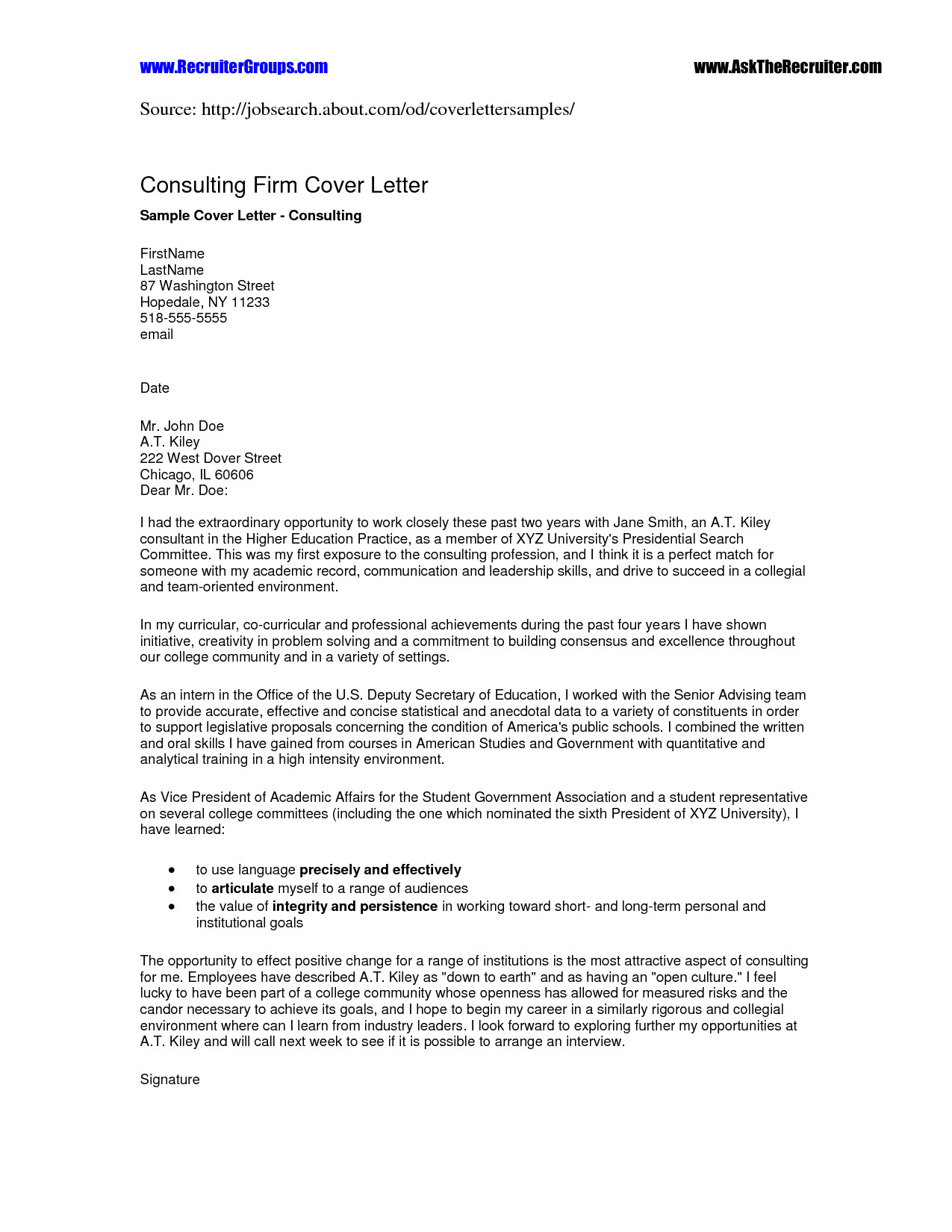 Recruitment Letter Template - 34 New Recruiting Letter Sample
