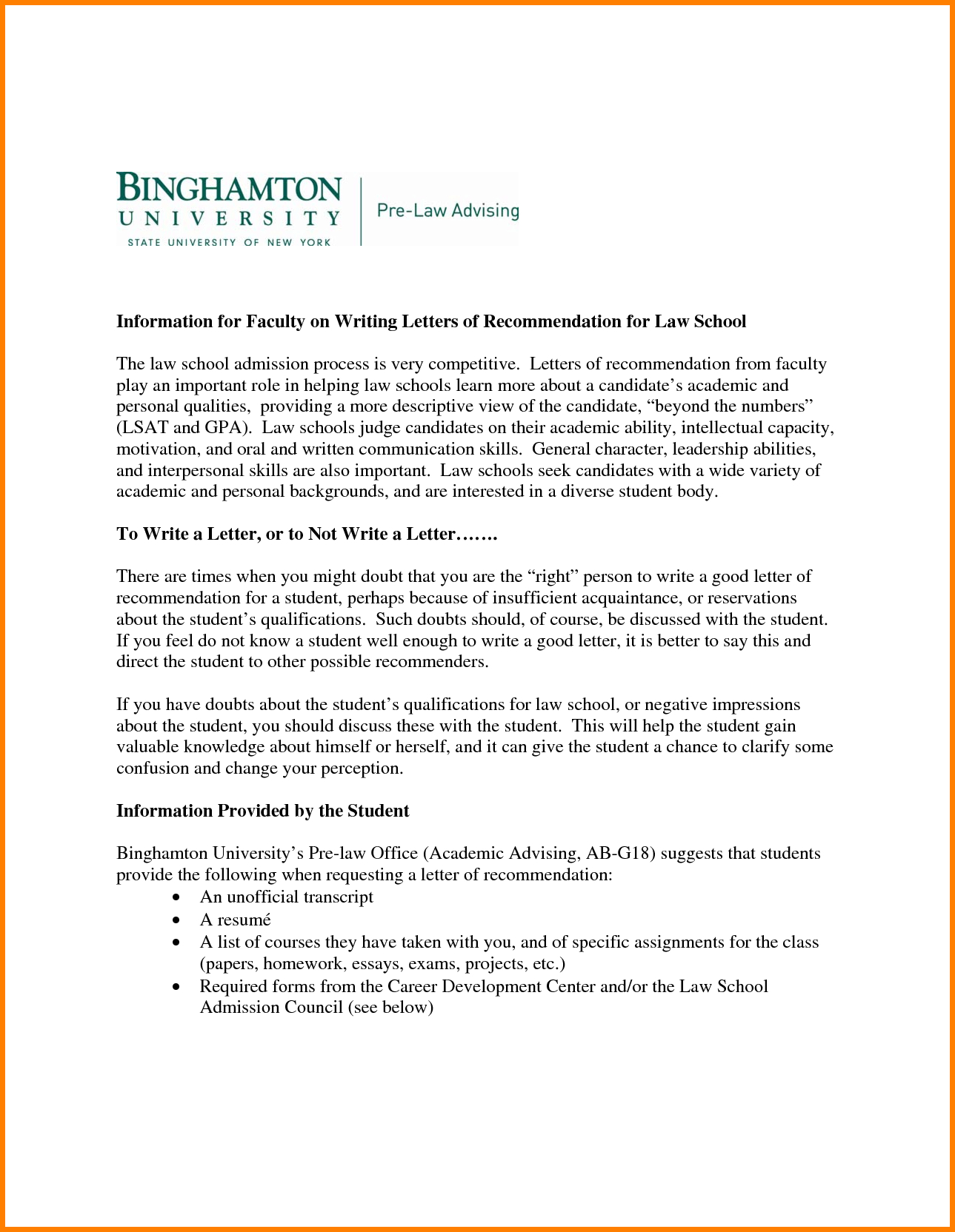Law School Letter Of Recommendation Template - 9 Law School Letter Of Re Mendation