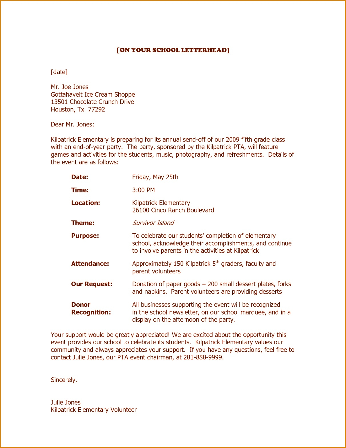 Fundraising Request for Donation Letter Template - 9 Letter for Donations From Businesses Besttemplates Besttemplates