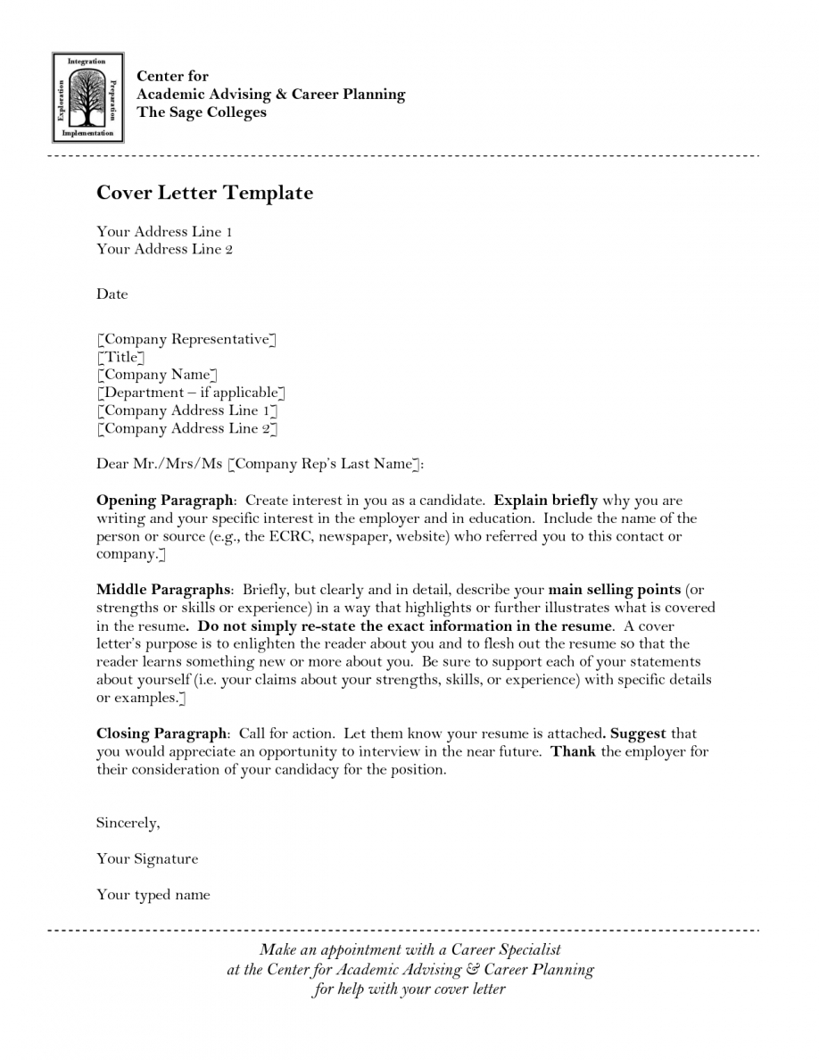 Teacher Application Cover Letter Template - Academic Advisor Cover Letter Samples Acurnamedia