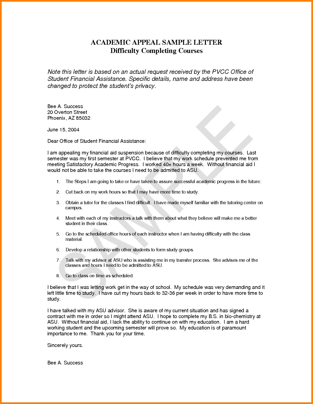 Probation Termination Letter Template - Academic Probation Letter Template Personalinjurylovete