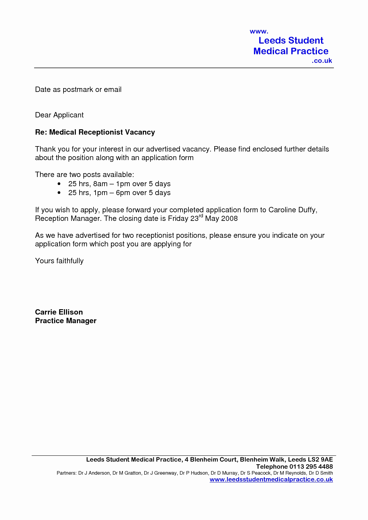 Cover Letter Template for Medical Office assistant - Administrative assistant Cover Letter Template Best Cover Letter