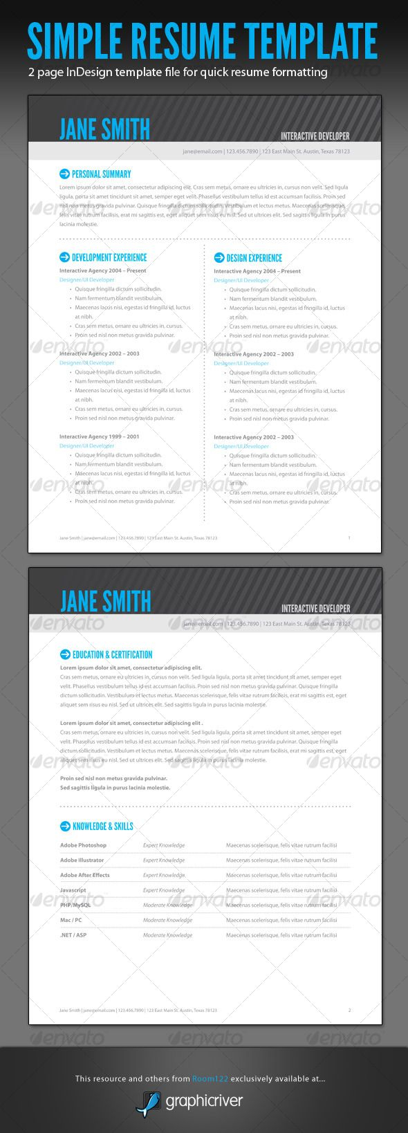 Indesign Letter Template - Adobe Indesign Resume Template Resume Template Indesign All Best Cv