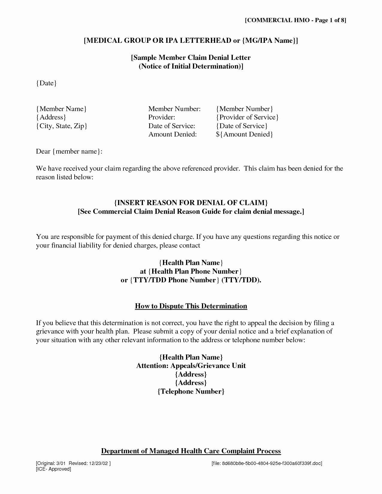 Lien Demand Letter Template - Appeal Letter Template Medical New Gallery Title Insurance Claim