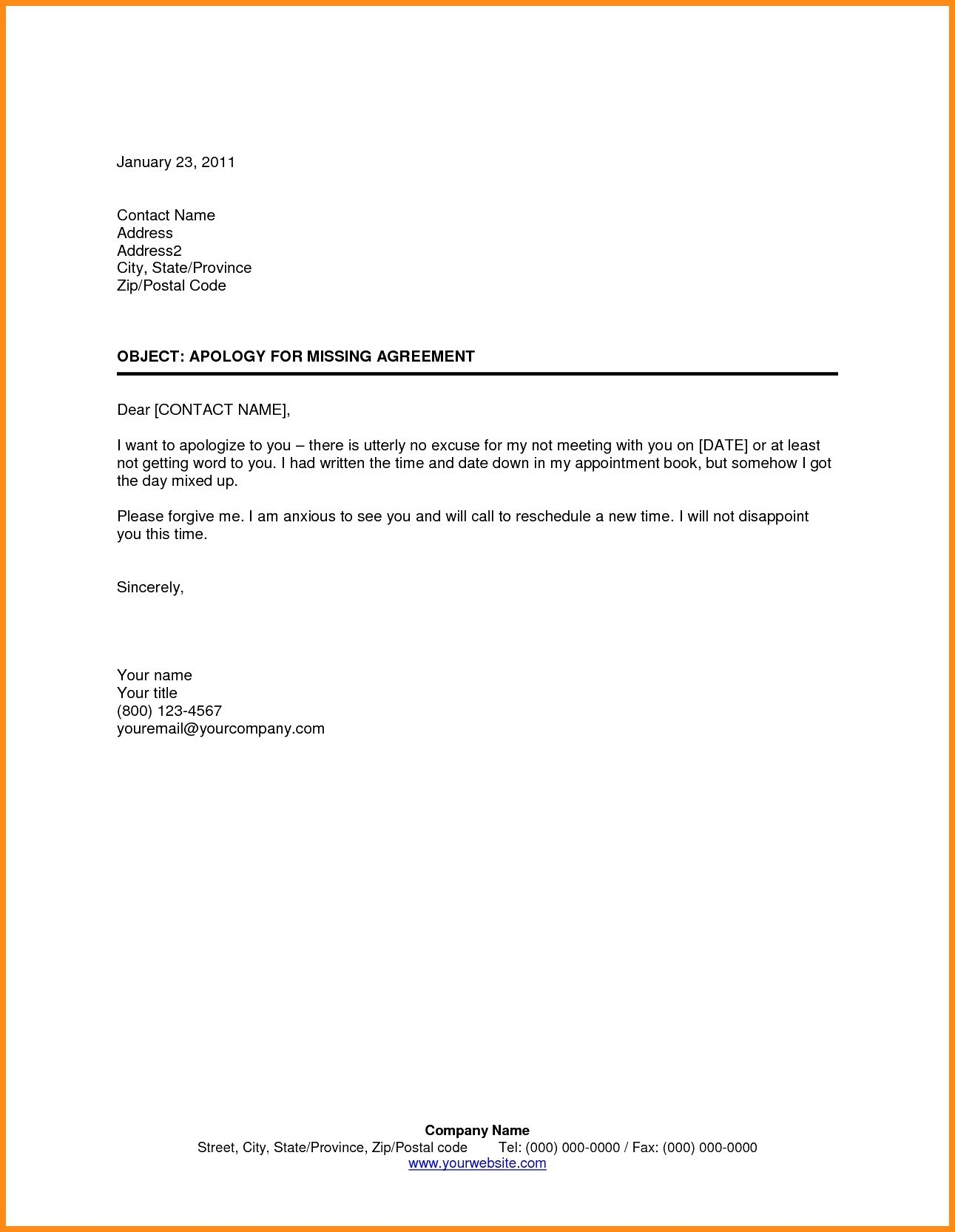 Patient Missed Appointment Letter Template - Appointment Letter Sample In Word format India Copy Appointment