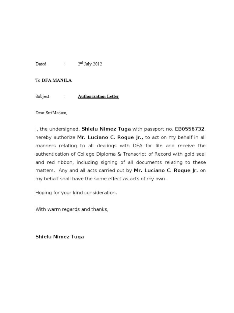 Vehicle Storage Fee Letter Template - Authorization Letter Dfa Sample for Claiming Lowrider Car Pictures