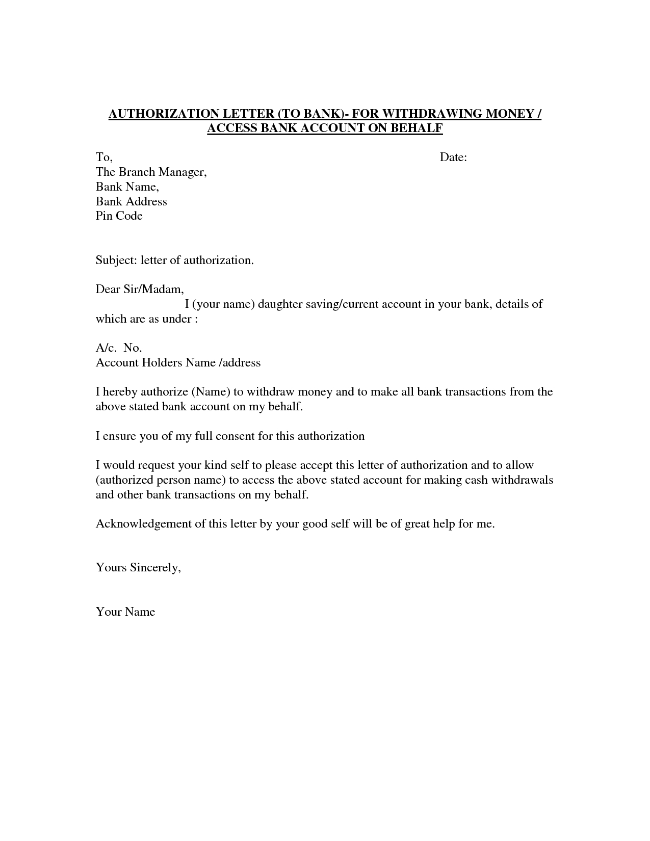 Confirmation Letter Template - Authorization Letter Template Best Car Galleryformal Letter