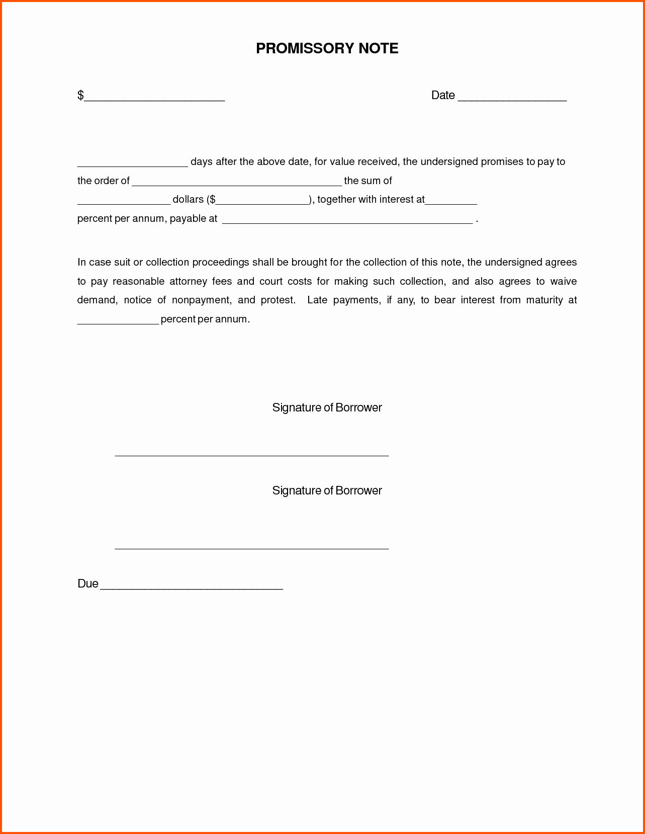 demand letter promissory note template example-Auto Promissory Note Template Luxury Promissory Note Template for Personal Loan Indian Sample Pdf form 20-c