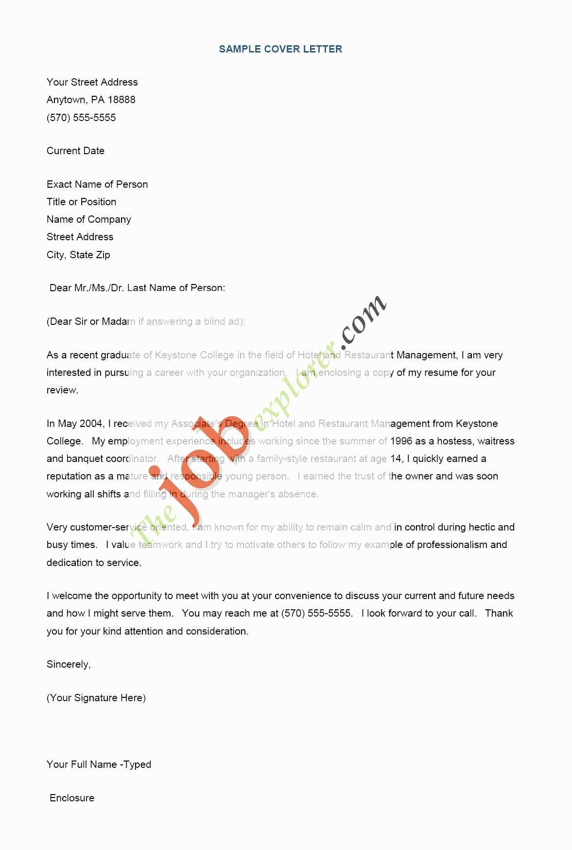 Free Template for A Cover Letter for A Resume - Awesome Free Cover Letter Templates