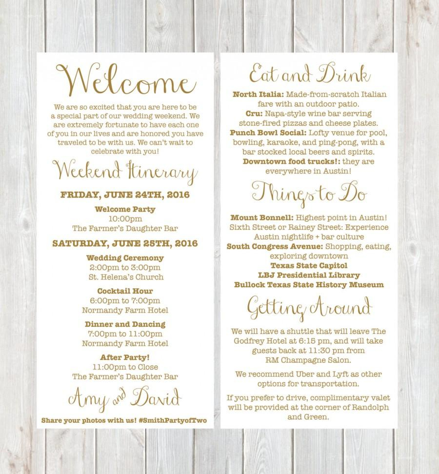 Welcome Letter Template for Wedding Guests - Beautiful Destination Wedding Wel E Letter Template
