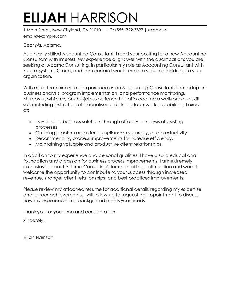 Real Estate Introduction Letter Template - Best Consultant Cover Letter Examples