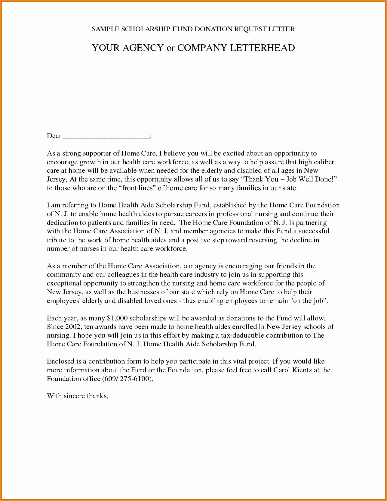 Free Donation Letter Template - Best Donation Letter Template