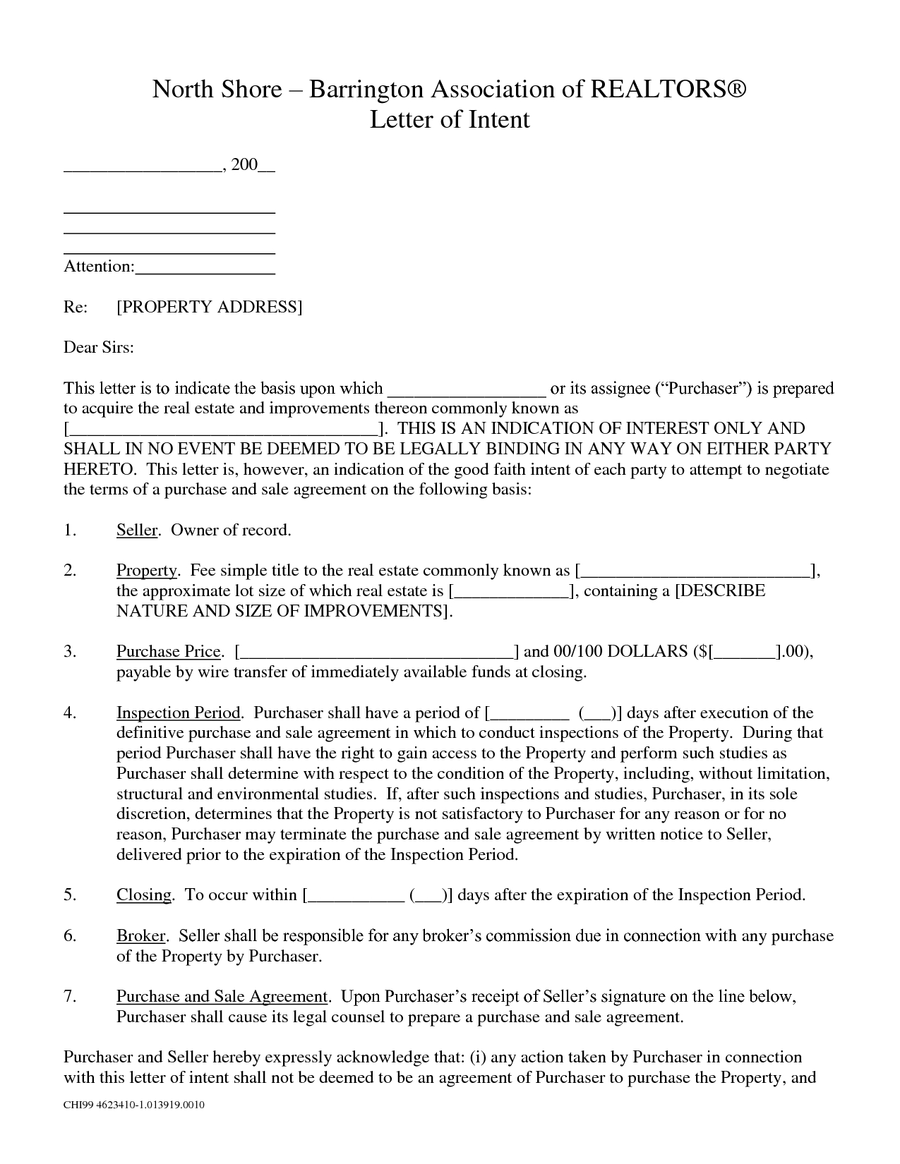 Commercial Real Estate Letter Of Intent to Purchase Template - Best S Er Intent Property Template to Purchase Real Estate