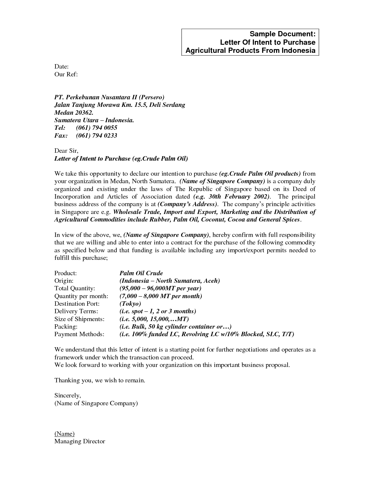 Letter of intent to sell a business template examples letter templates letter of intent to sell a business template best s sample business letter intent home wajeb Image collections