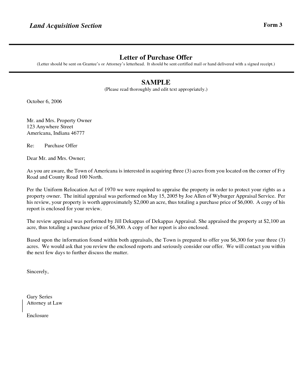 Land Purchase Offer Letter Template - Best S Template Proposal Property Buying Letter Sampletent