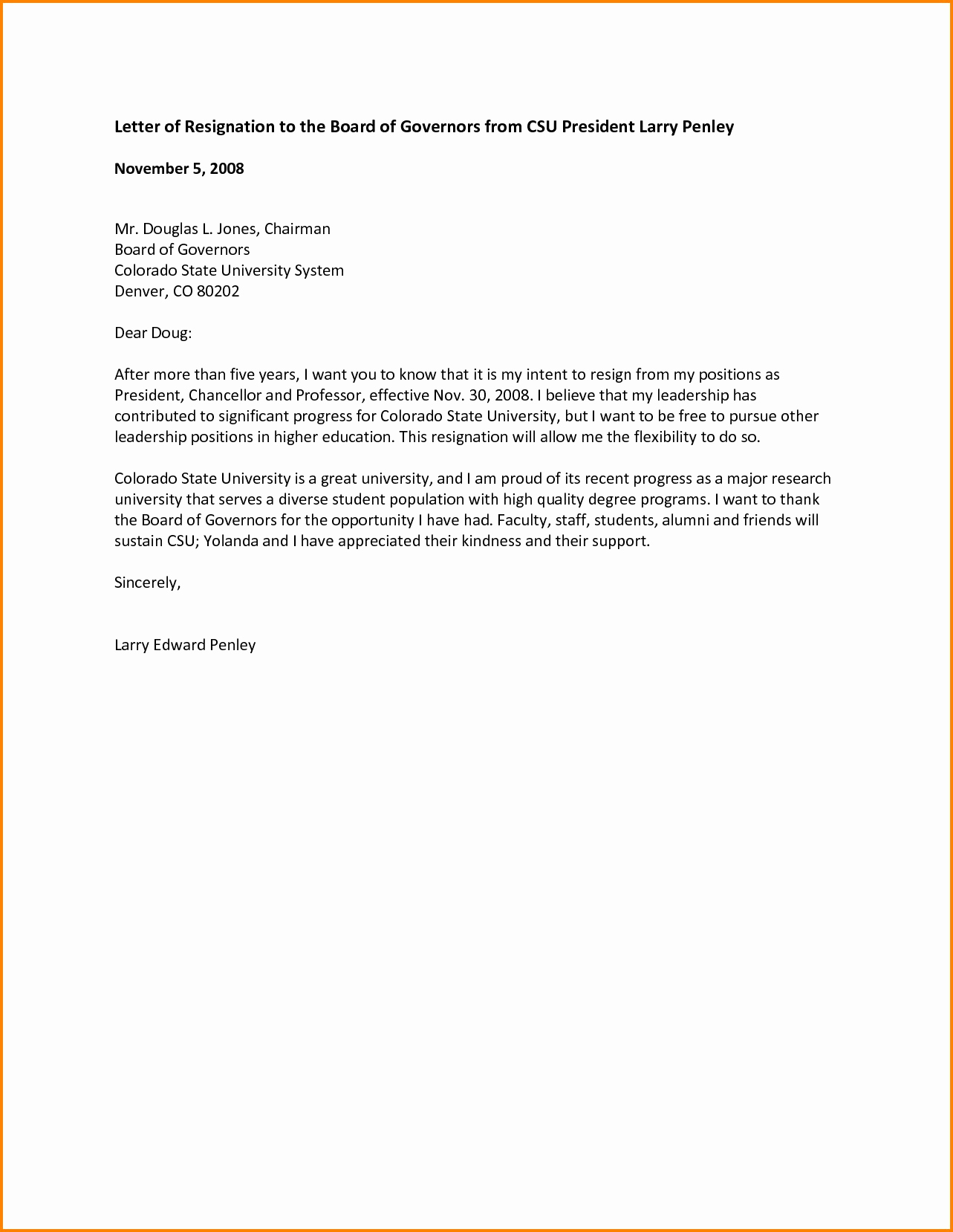 Resignation letter from board of directors template samples letter resignation letter from board of directors template expocarfo Image collections
