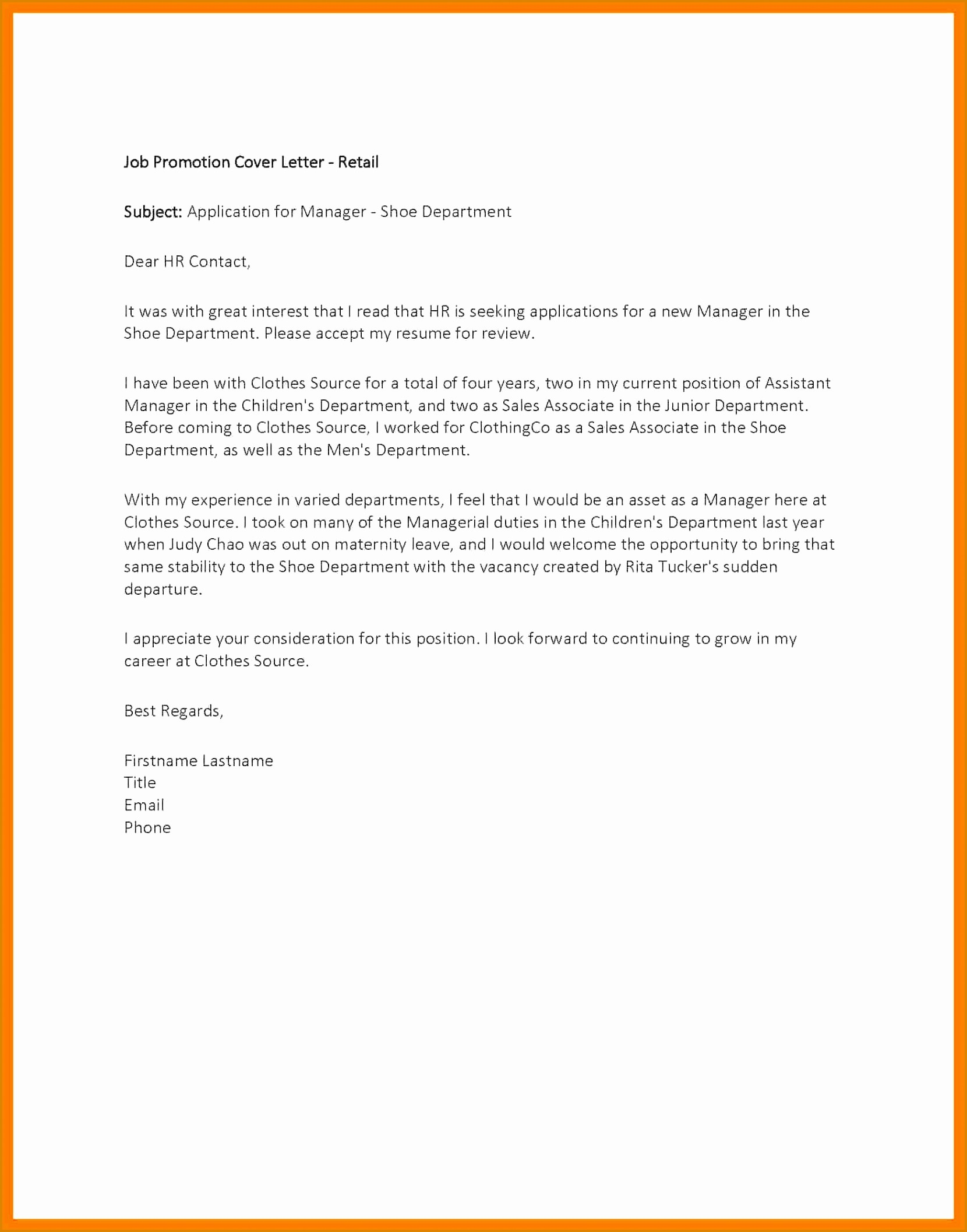 Cover Letter Template Retail Sales assistant - Brilliant Ideas Of Best Retail Cover Letter Examples for Example