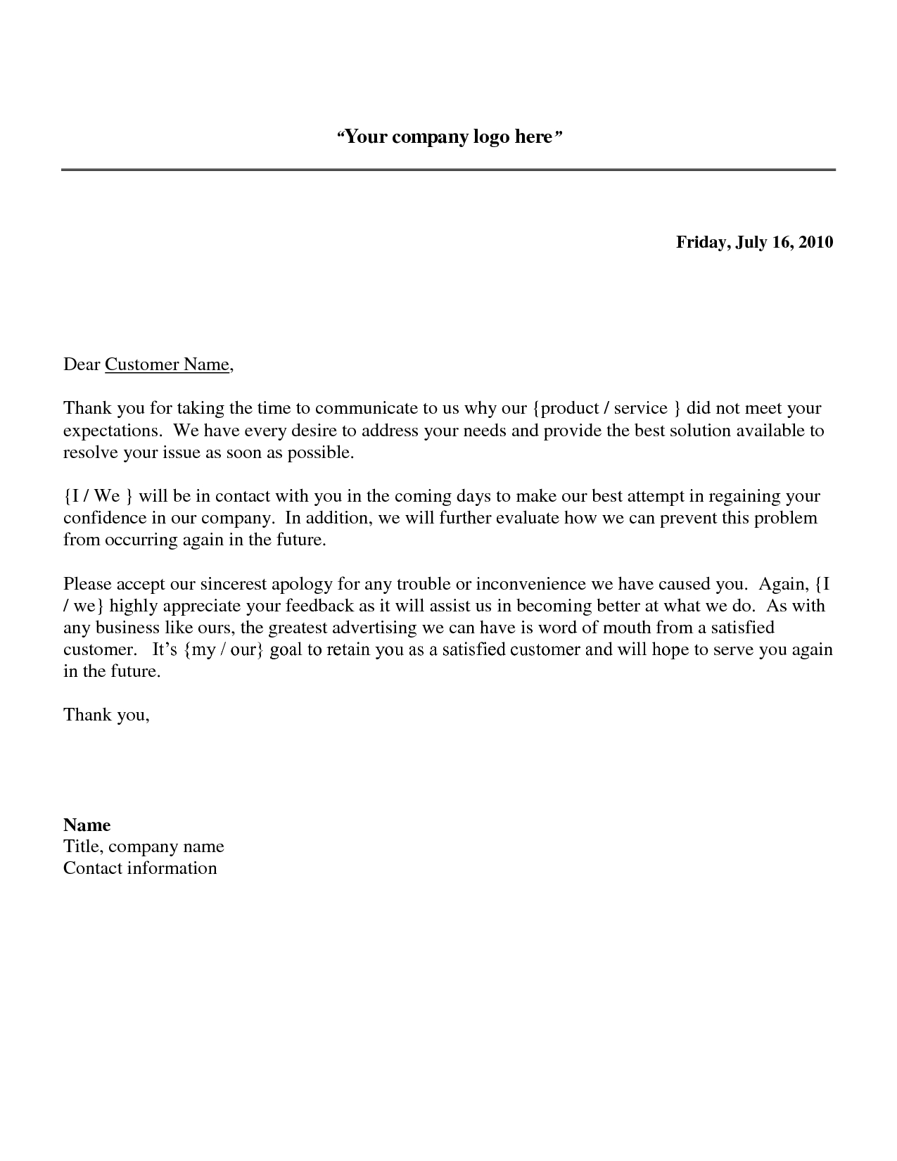 Reply to Patient Complaint Letter Template - Business Apology Letter Sample Download as Doc Frompoletter