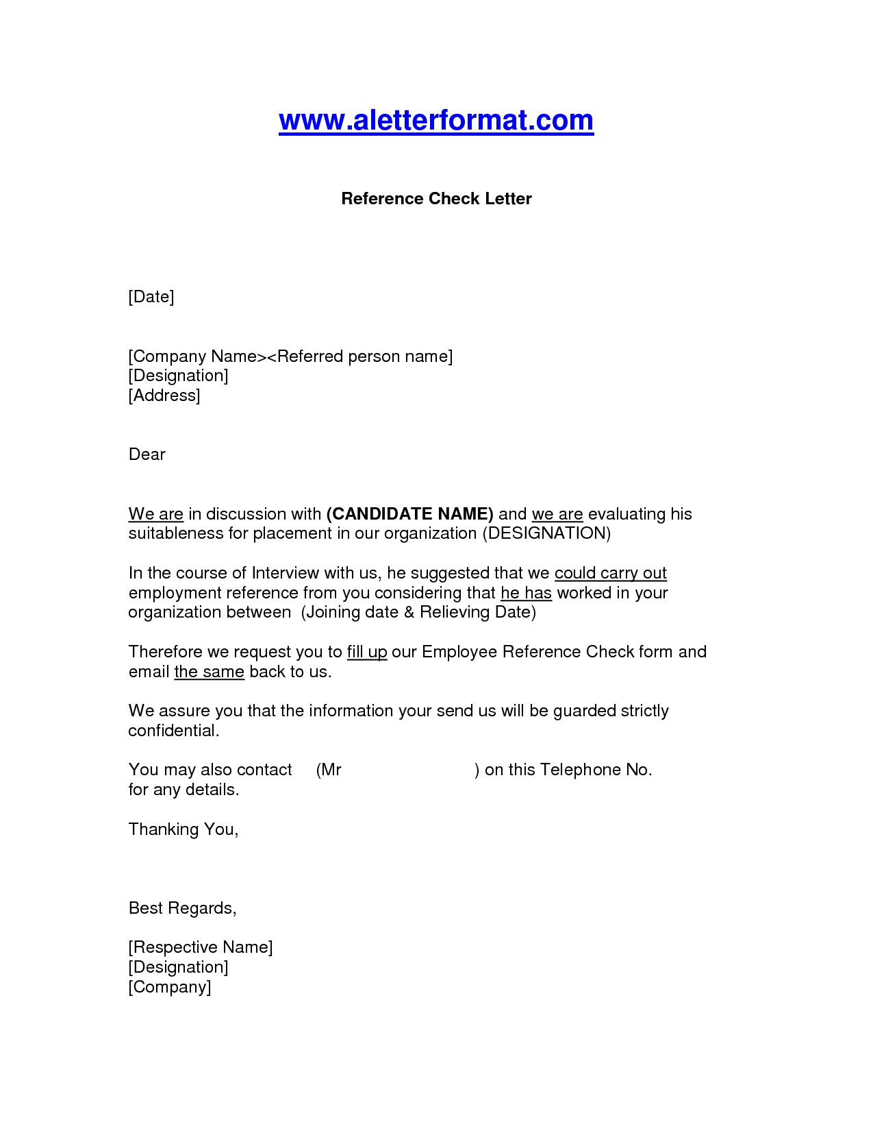 Business Referral Letter Template Examples Letter Templates
