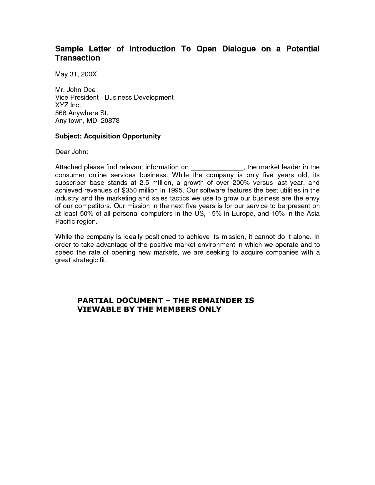 Cleaning Business Introduction Letter Template Examples Letter