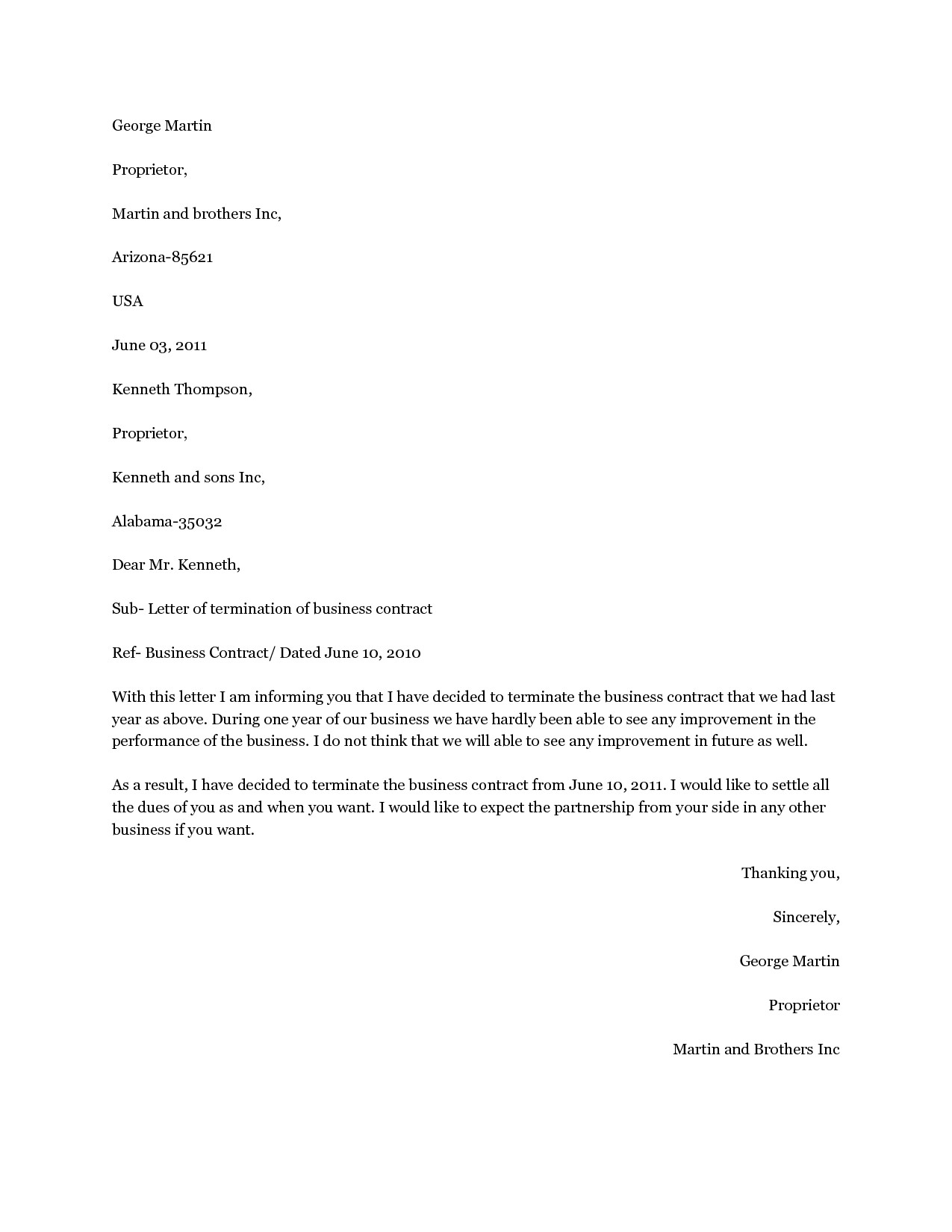 Dismissal Letter Template - Cancellation Contract Luxury Contract Termination Letter for