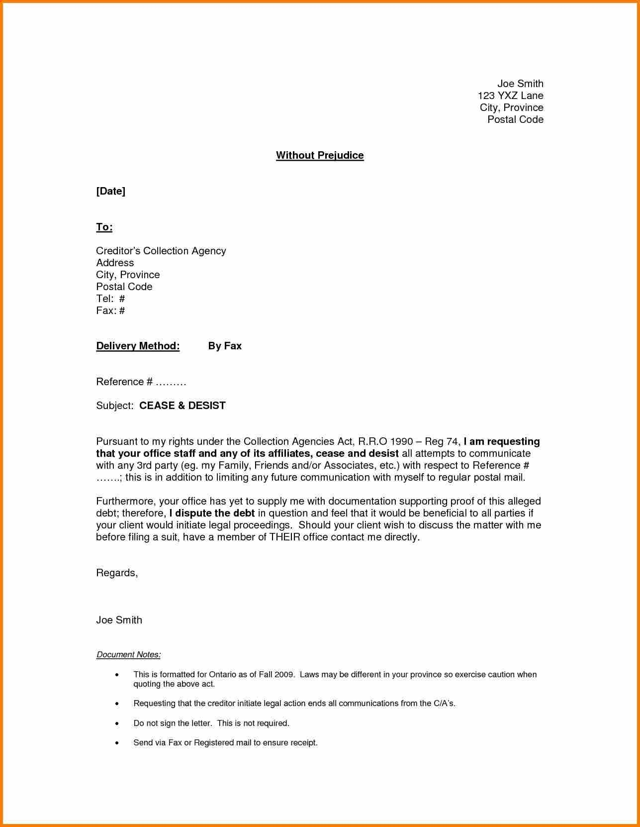 Cease and Desist Letter Template Amazon - Cease and Desist Letter Template for Debt Collectors