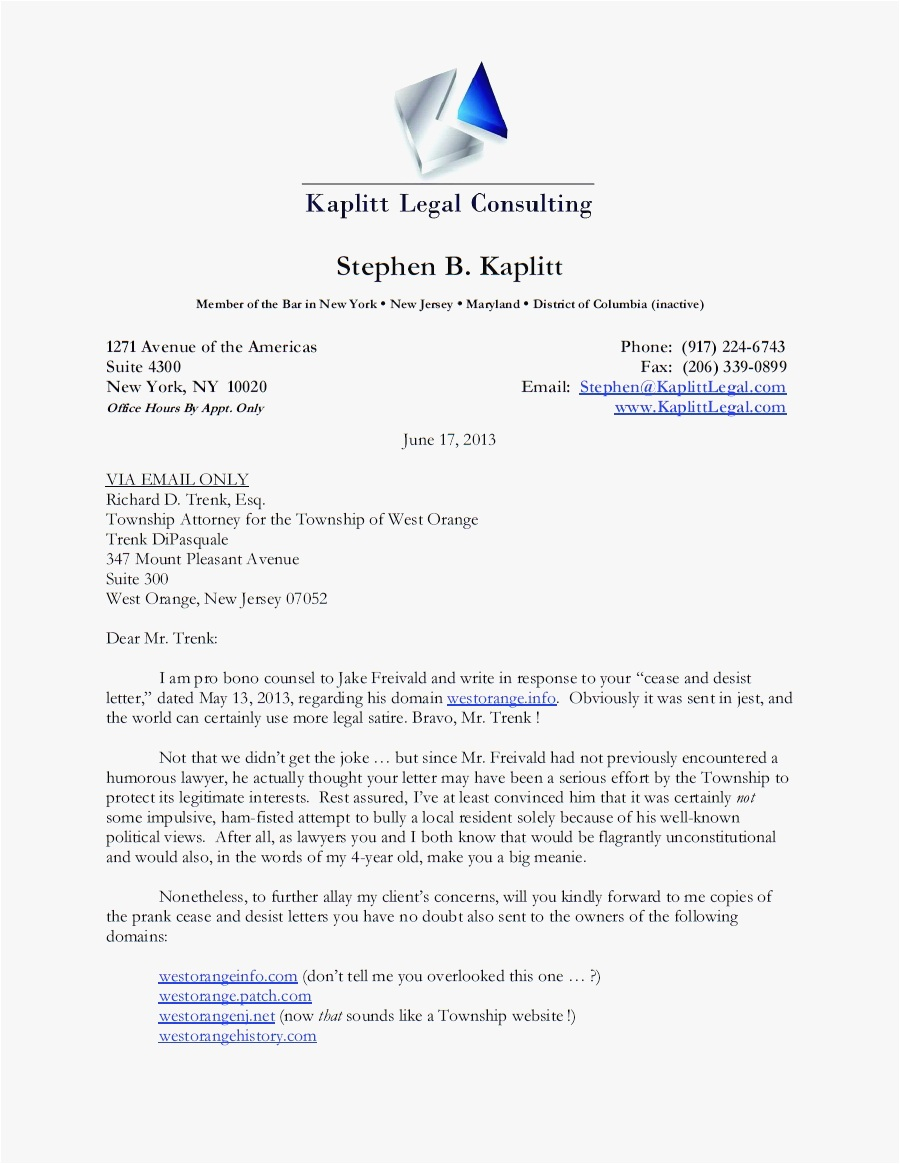 Cease and Desist Letter for Defamation Of Character Template - Cease and Desist Letter Template Simple How to Write A Defamation