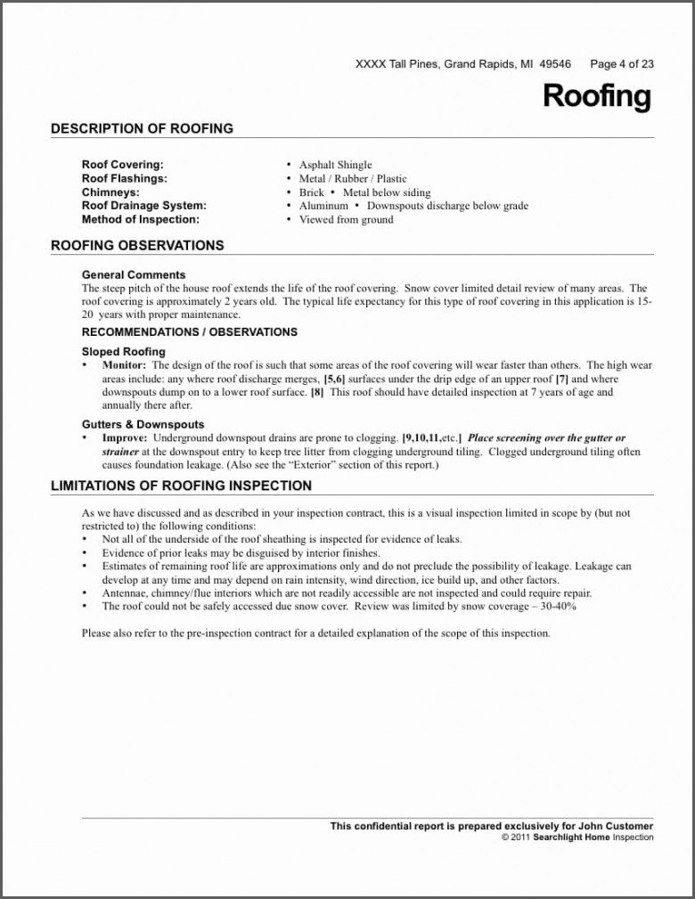 free roof certification template - roof inspection letter template samples letter templates