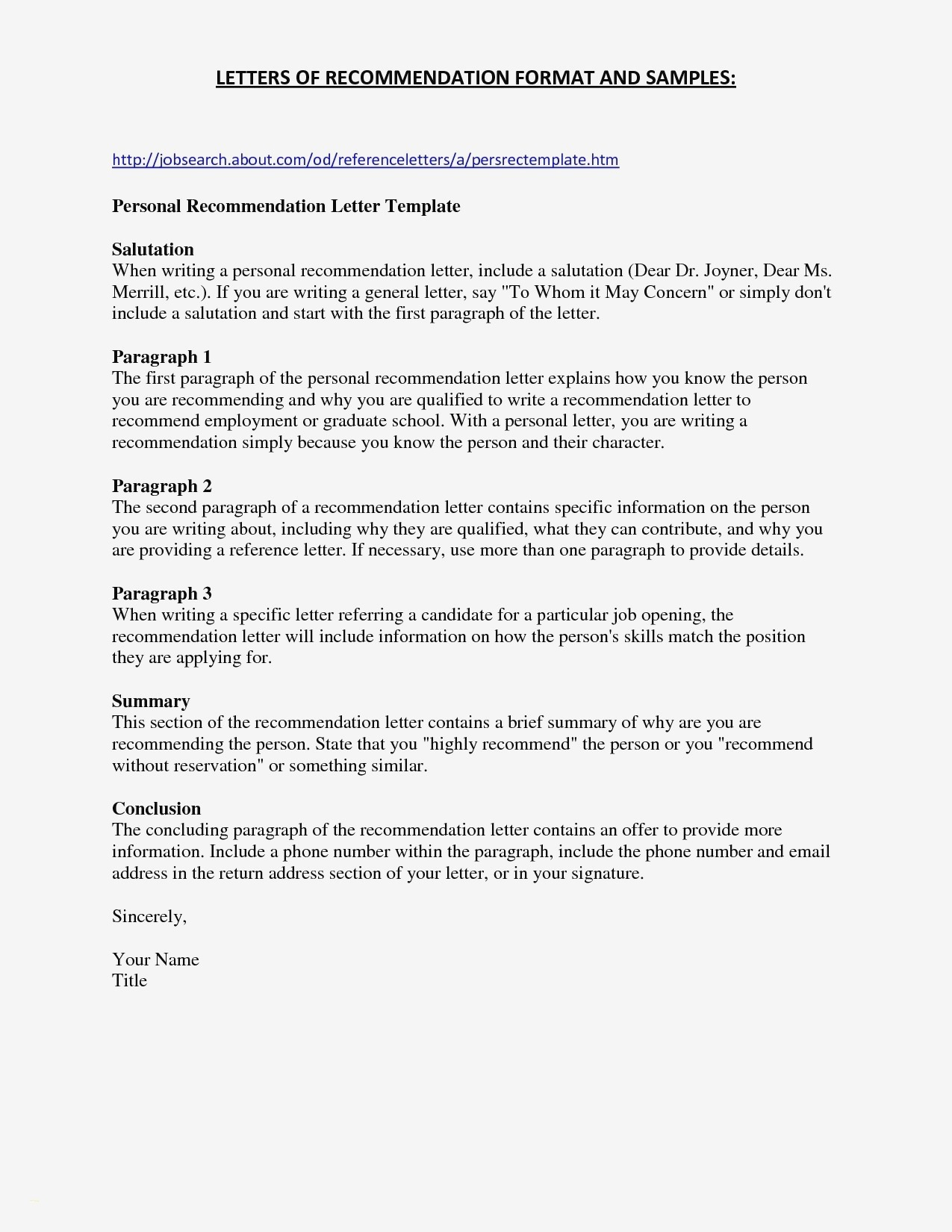Personal Reference Letter Template Free - Character Resume Template Luxury the Proper Harvard Business School
