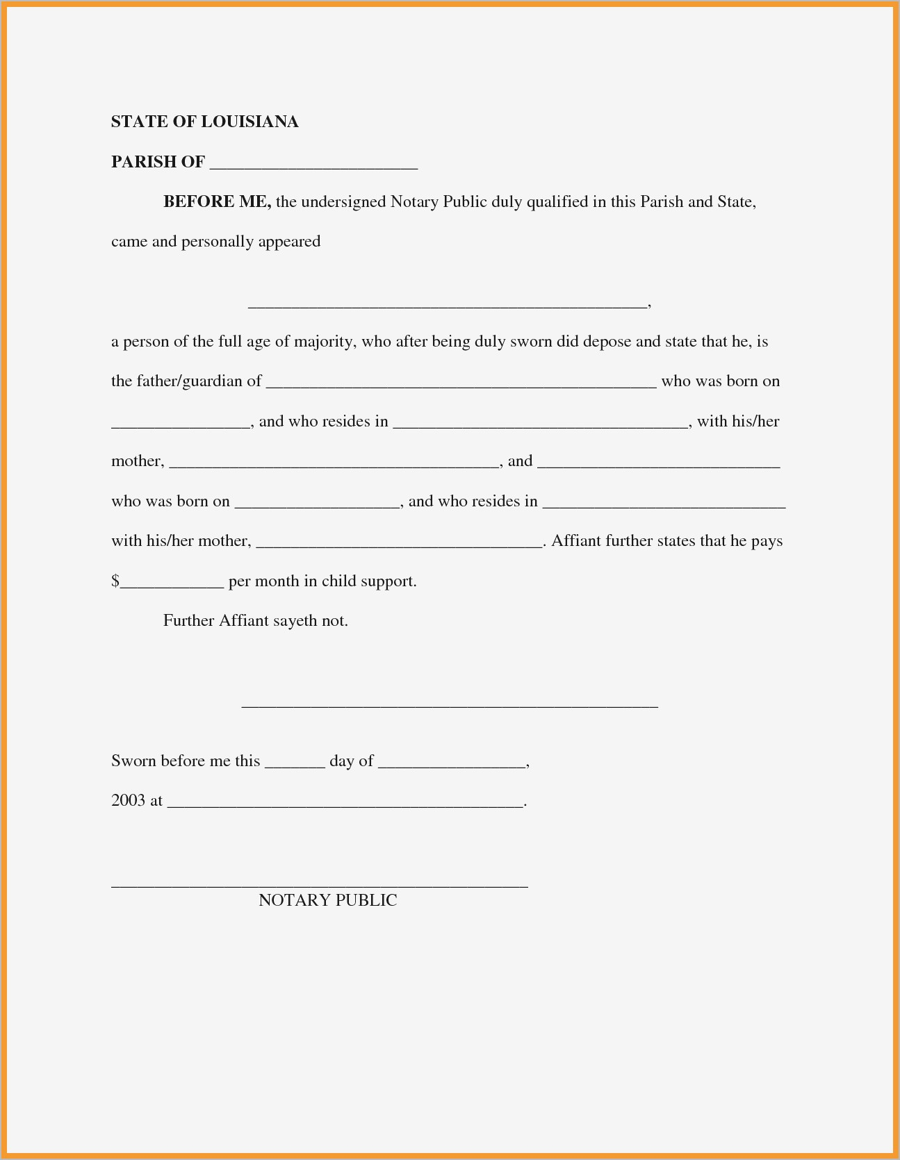 Child Support Letter Of Agreement Template - Child Support Agreement Letter Ideas