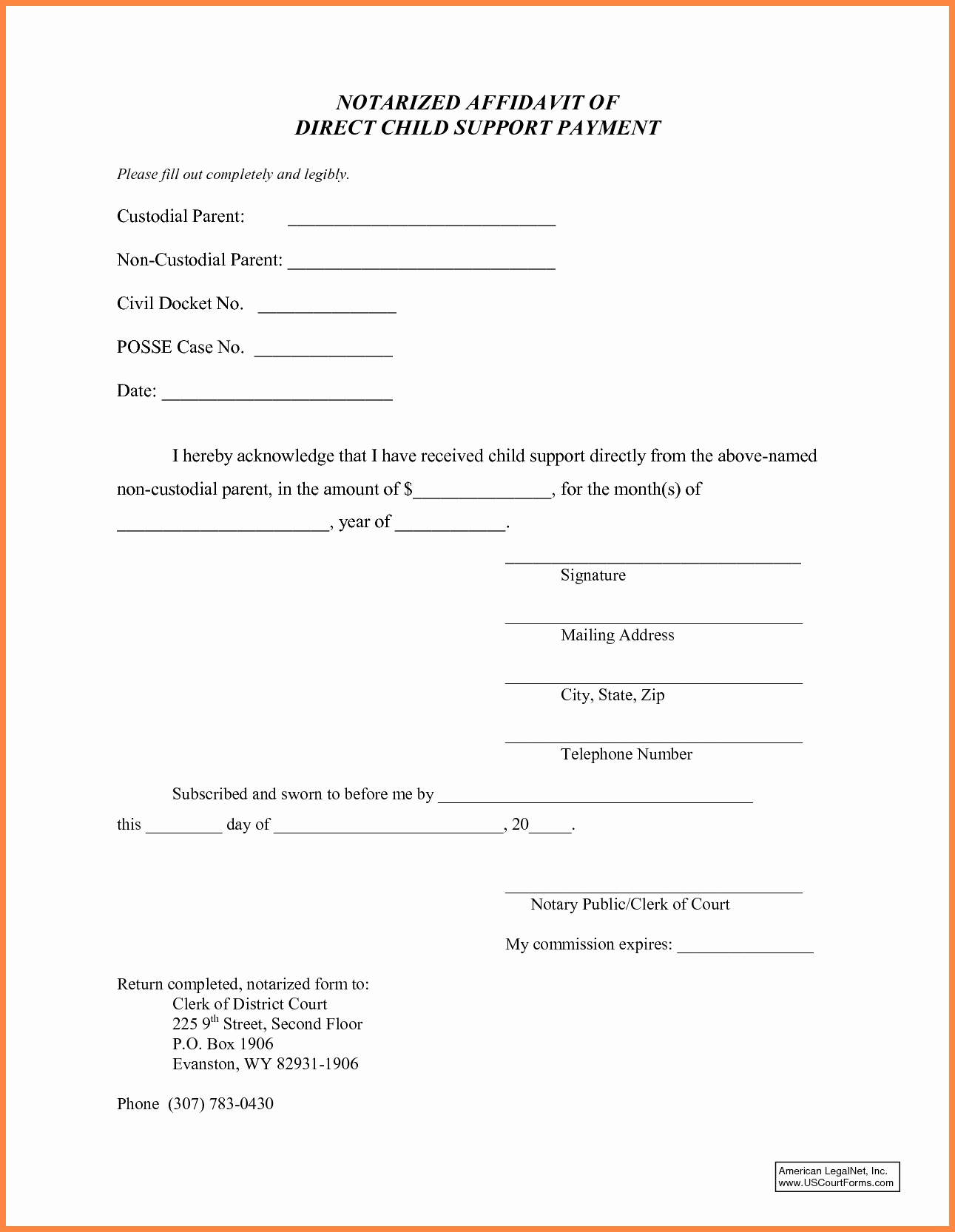 Child Support Letter Of Agreement Template - Child Support Contract Template Awesome Sample Child Support