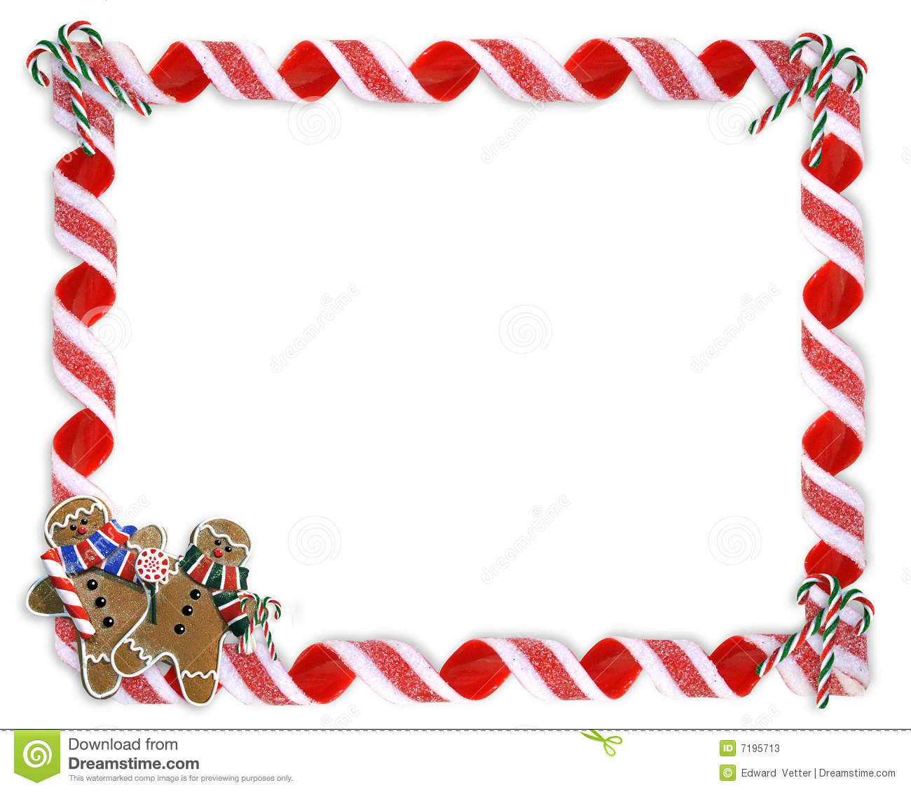 Christmas Letter Border Template - Christmas Border Cookies and Candy Stock Illustration Illustration